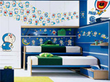 致敬蓝胖子 各式瓷砖装扮最萌儿童房