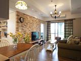 木石铺砌粗犷温暖 100平美式乡村婚房