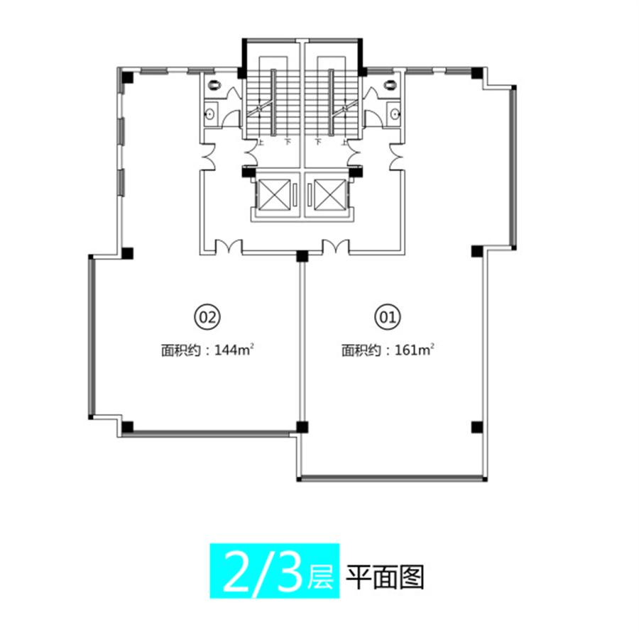 11#/12#/13#楼 二层三层平面图【洛阳国家大学科技园】11#/12#/13#楼 二层三层平面图