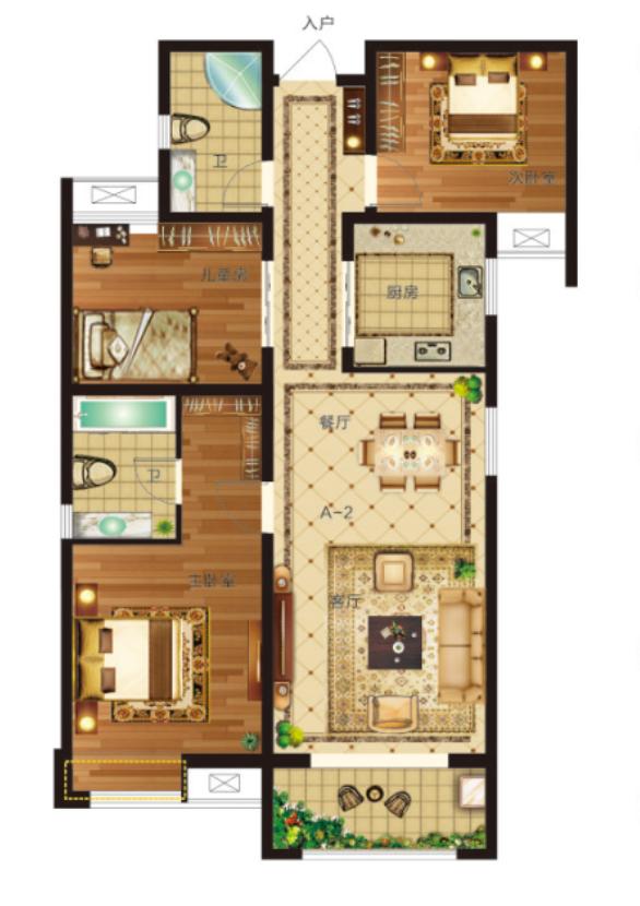 118�O 三室两厅两卫【瀛海19城三】118�O 三室两厅两卫