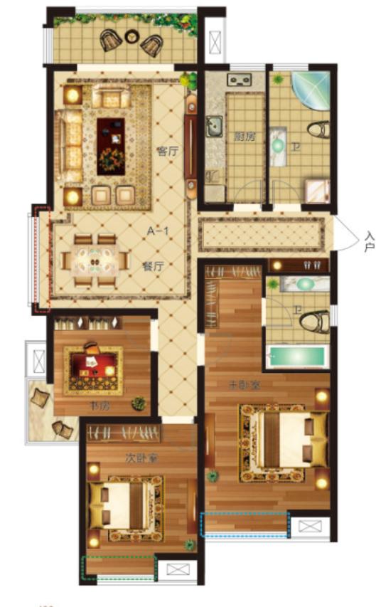 130�O 三室两厅两卫【瀛海19城三】130�O 三室两厅两卫