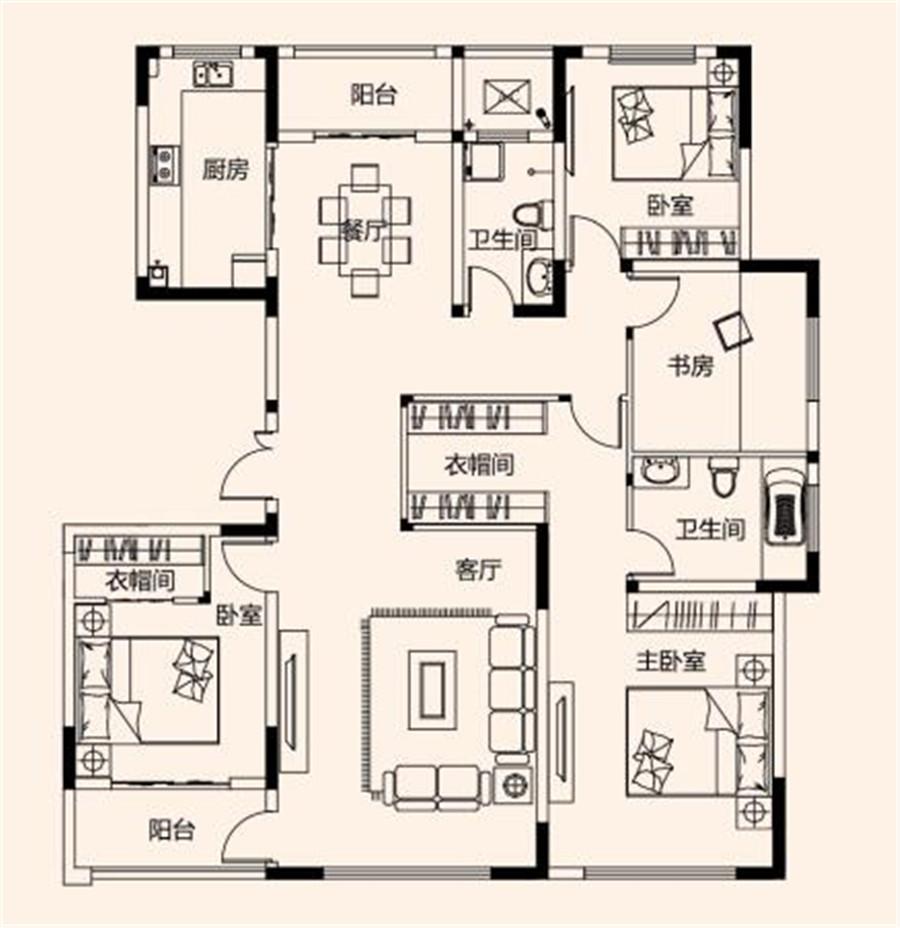 四室两厅两卫【建业桂园四】四室两厅两卫