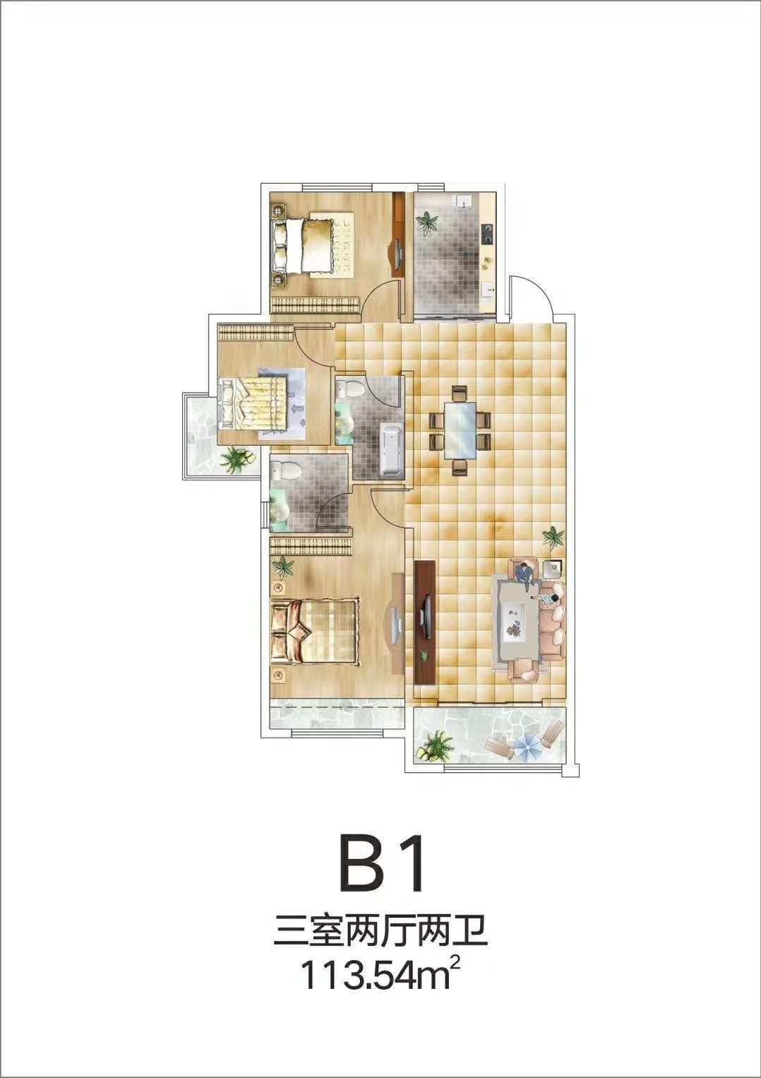 B1【蓝湾印象三】B1