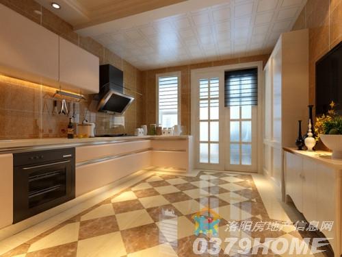 欧式经典别墅的厨房